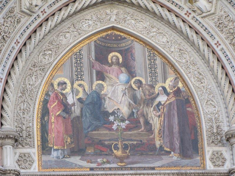 Störst kyrka för Europa ` s fjärde -, i Florence, Italien, Santa Maria del Fiore arkivbild
