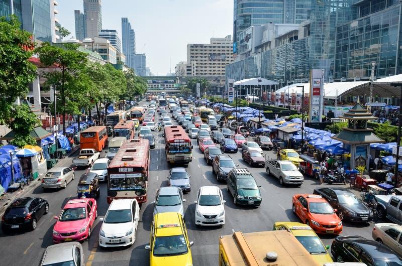 Störung des starken Verkehrs stockbilder