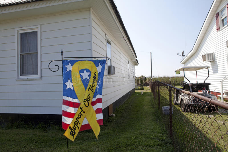Stötta vårt soldatbaner, Chesapeake royaltyfri bild