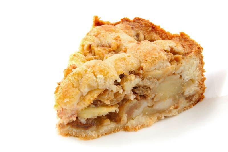 Stück Apfelkuchen stockbilder