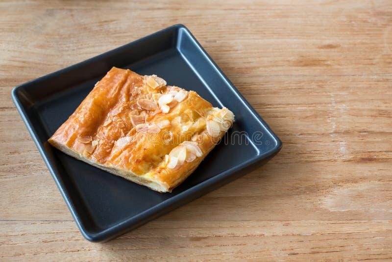 Stück Apfelkuchen lizenzfreies stockfoto