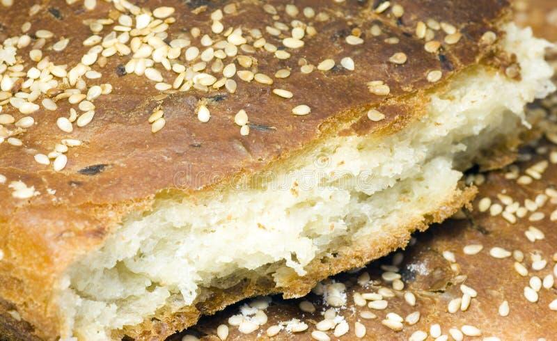 Stück Brot lizenzfreie stockbilder