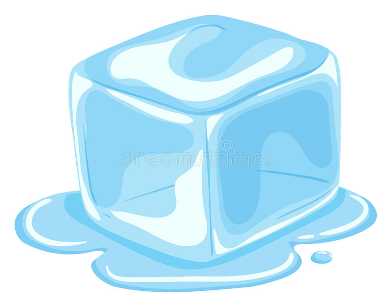 Stück des Eiswürfelschmelzens stock abbildung