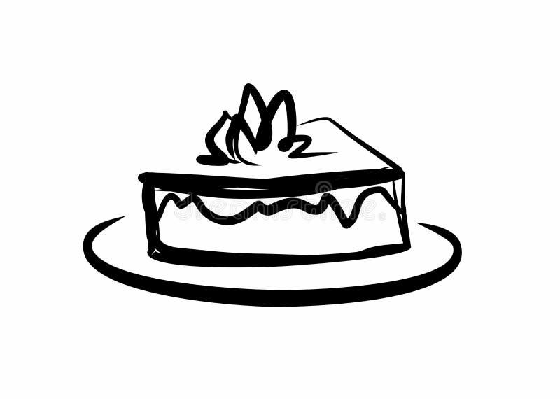Stück des köstlichen Kuchens lizenzfreie abbildung
