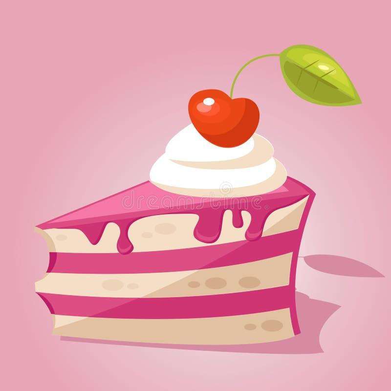 Stück des Kuchens stock abbildung