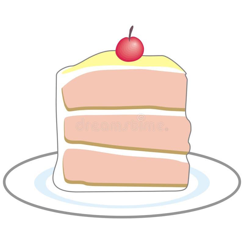 Stück des Kuchens vektor abbildung