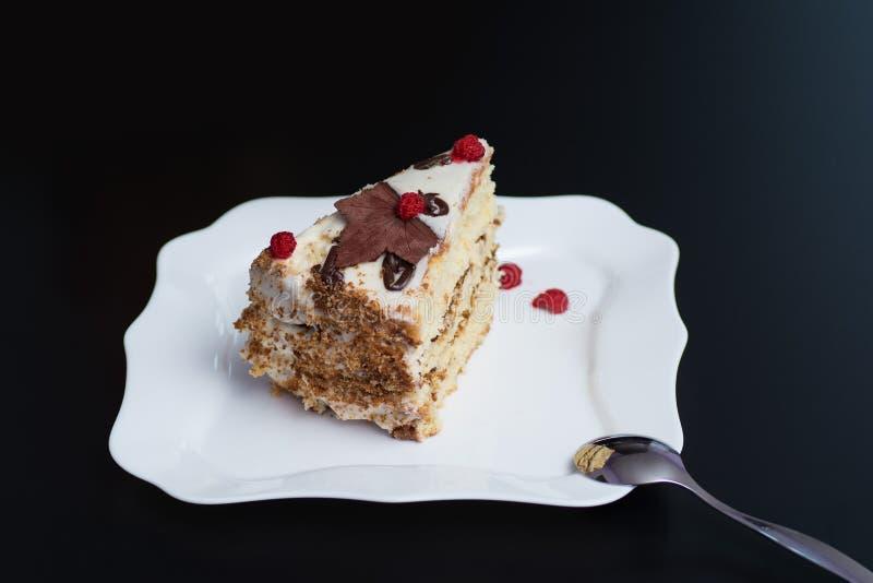 Stück des Kuchens stockbilder