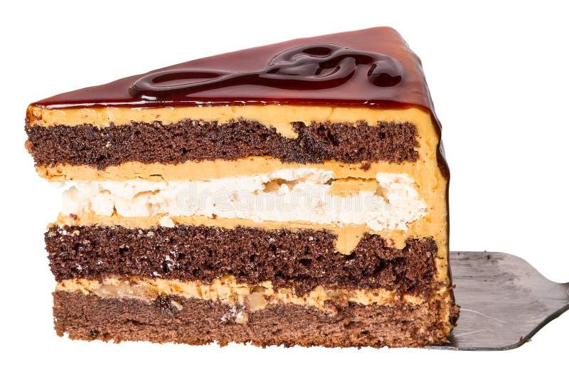 Stück des Kuchens mit dreifachem Clef lizenzfreie stockbilder