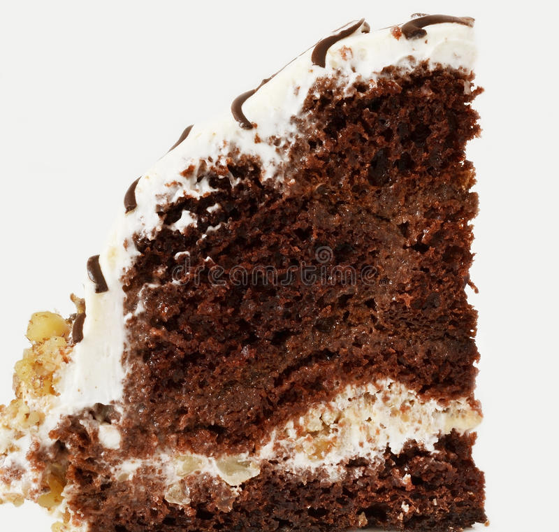 Stück des Schokoladenkuchens lizenzfreie stockfotografie