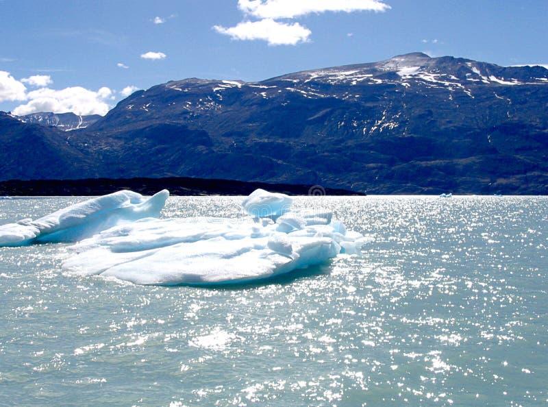 Stück Eis abgetrennt vom Gletscher im Patagonia stockfotografie