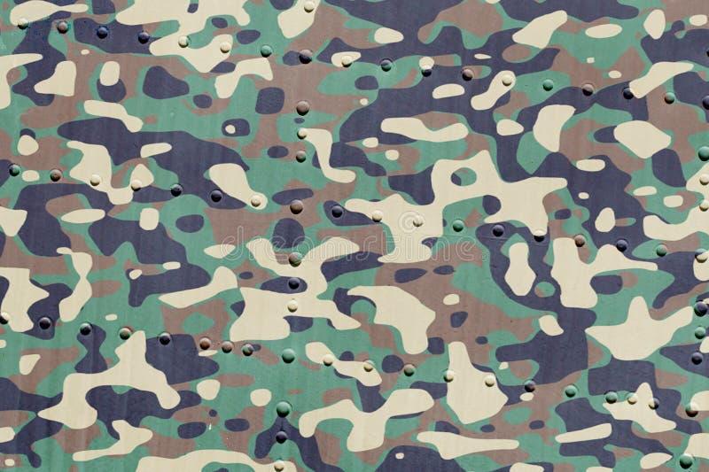 Stück Flugzeugschmutz-Metallhintergrund, Armee camo lizenzfreie stockfotografie