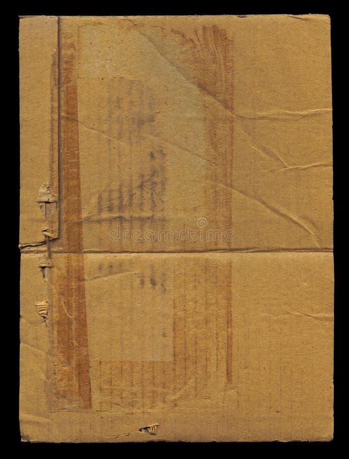 Stück ruinierte Pappe lizenzfreie stockbilder