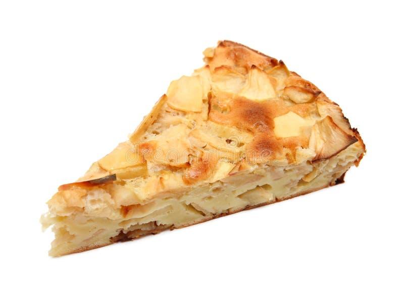 Stück süßer Apfelkuchen lizenzfreies stockfoto