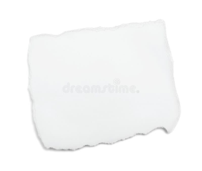 Stück Weißbuch lizenzfreie stockfotografie