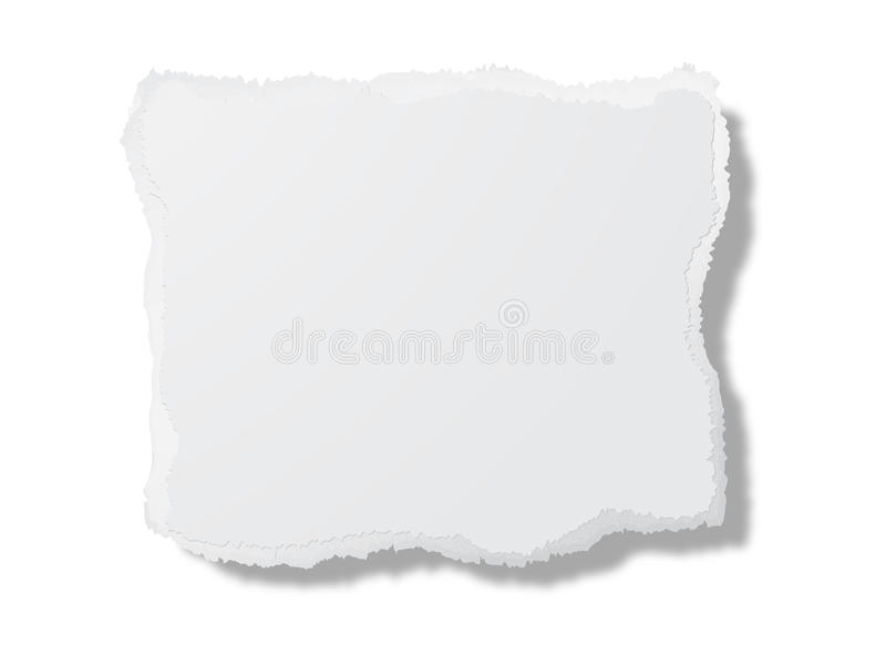 Stück weiße Pappe vektor abbildung