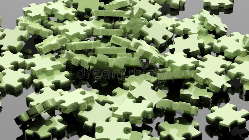 Stücke 3D des Puzzlespiels stock abbildung