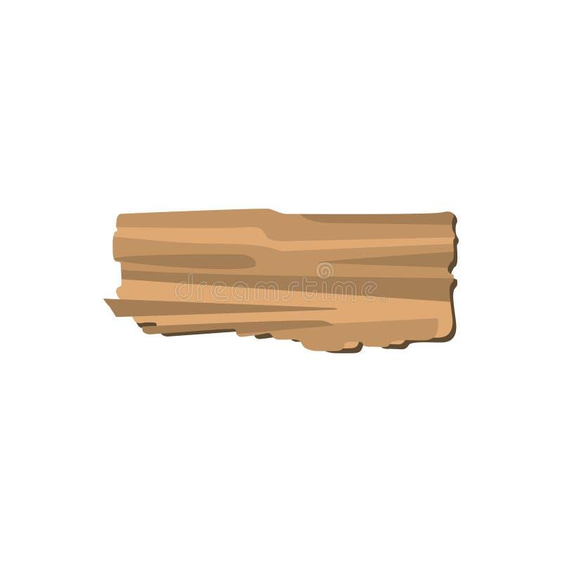 Stücke der defekten Planke lokalisiert auf weißem Hintergrund lizenzfreie abbildung