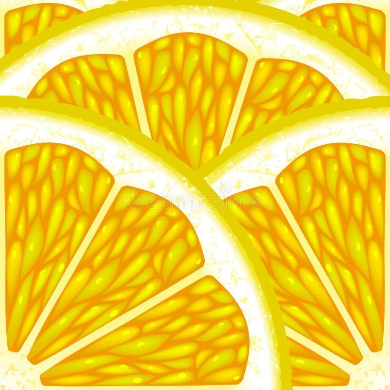 Stücke der Zitrone. stock abbildung