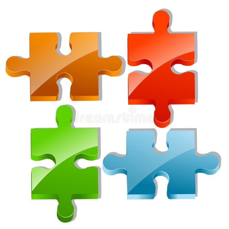 Stücke des Puzzlen lizenzfreie abbildung