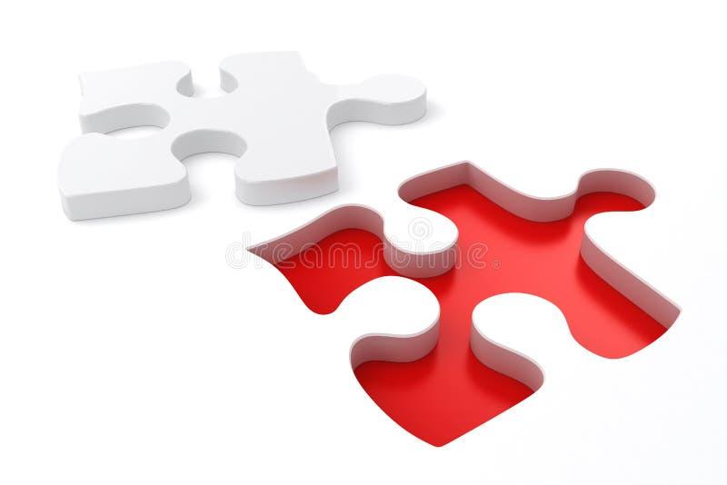 Stücke des Puzzlespiel-3D stock abbildung