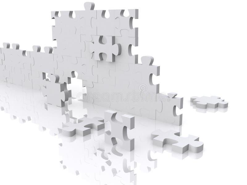 Stücke des Puzzlespiels 3d lizenzfreie abbildung