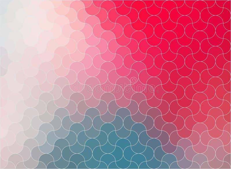 Stücke in einem Puzzlespielzusammenfassungshintergrund für Ihren Entwurf - Vektor vektor abbildung