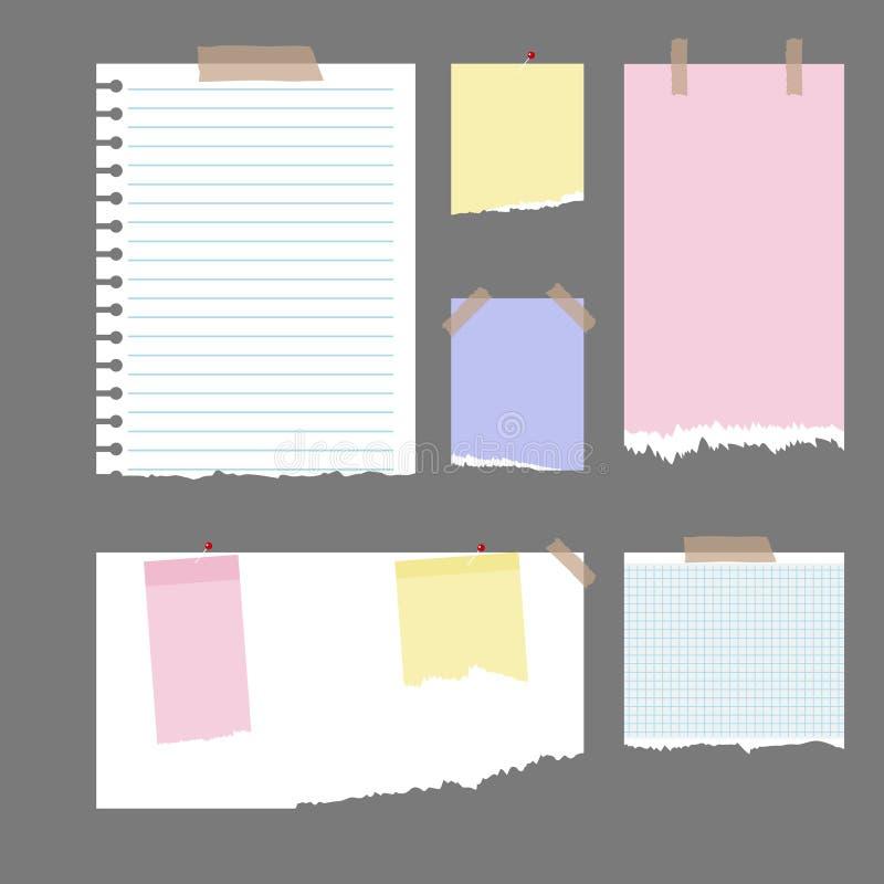 Stücke heftiges Papier vektor abbildung
