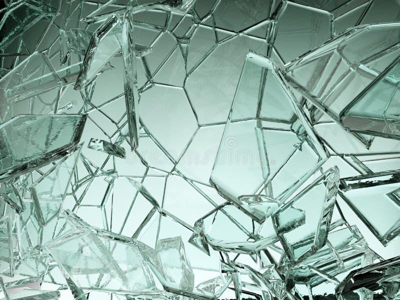 Stücke transparentes Glas defekt oder gebrochen vektor abbildung