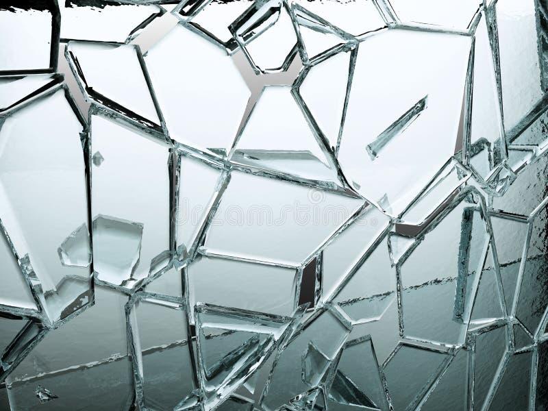 Stücke transparentes Glas defekt oder gebrochen lizenzfreie abbildung