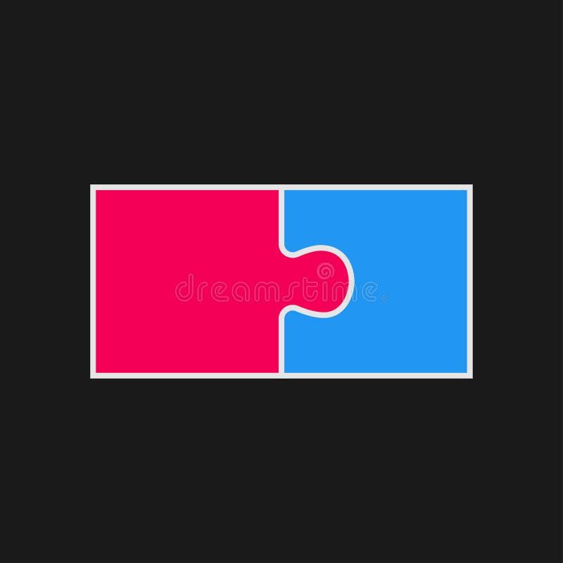 Stücke verwirren Schritt-zackigen Gegenstand Infographic zwei vektor abbildung