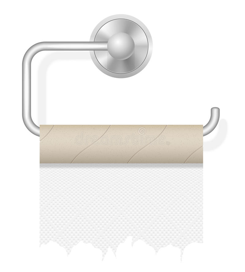 StückToilettenpapier auf Haltervektorillustration lizenzfreie abbildung