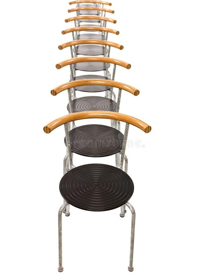 Stühle in einer Reihe lizenzfreies stockfoto
