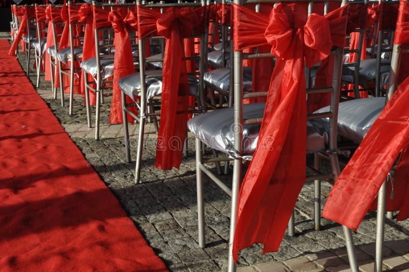 Stühle für eine Partei lizenzfreie stockfotos