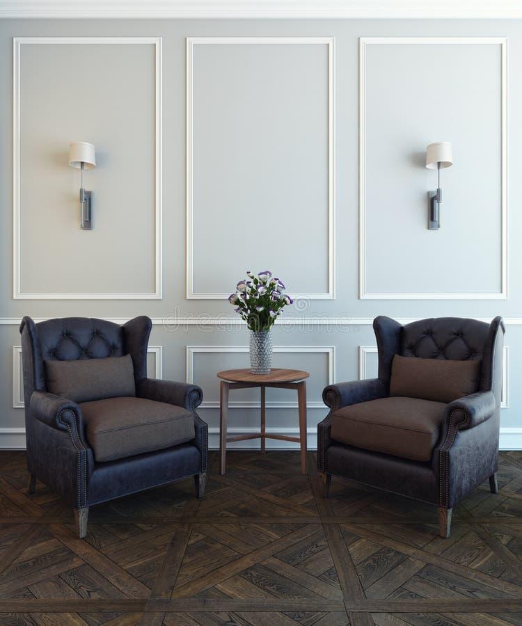 Stühle und Blume vektor abbildung