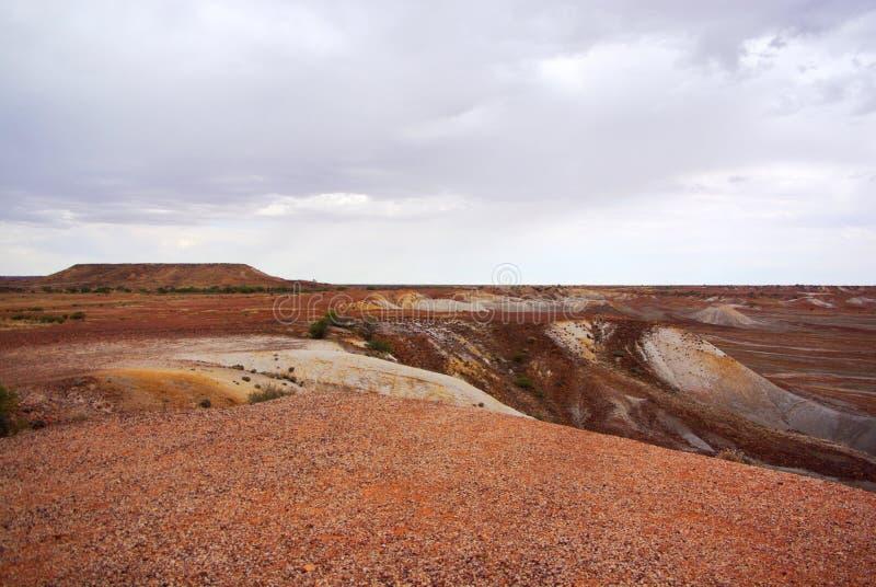Stürmische gemalte Wüste lizenzfreies stockbild