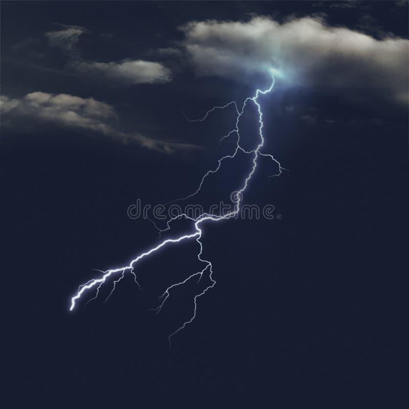 Stürmische Himmel nachts stockbild