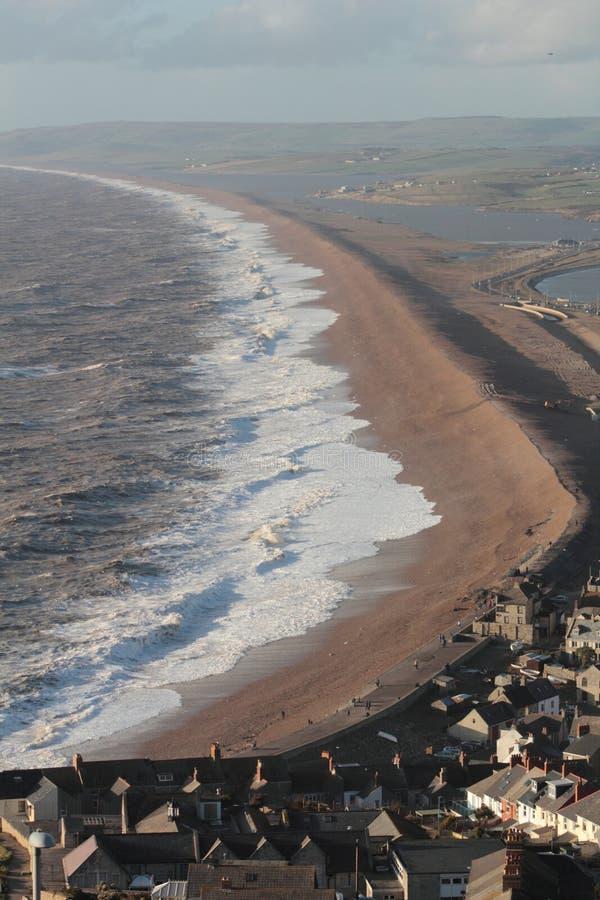 Stürmische Meere, die West schauen lizenzfreies stockbild