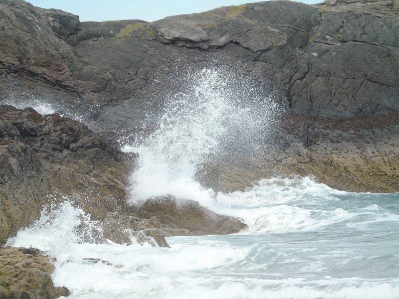 Stürmische Meere Moray Firths lizenzfreies stockbild