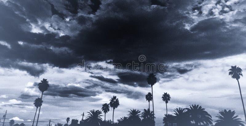 Stürmische Wüste Moonson lizenzfreie stockfotos