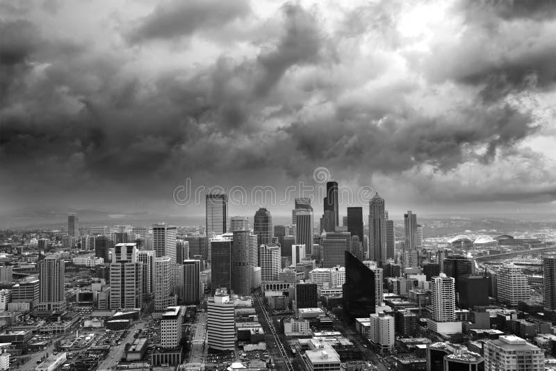 Stürmisches Seattle lizenzfreies stockbild