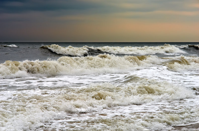 Stürmisches Wetter, Atlantik lizenzfreie stockfotografie