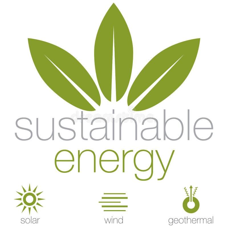 Stützbare Energie stock abbildung
