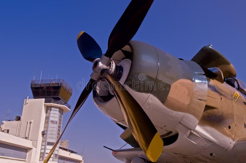 Stützeflugzeug lizenzfreie stockfotos