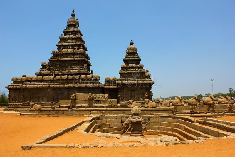 Stützen Sie Tempel in Mahabalipuram, chennai, Indien ab stockfotografie
