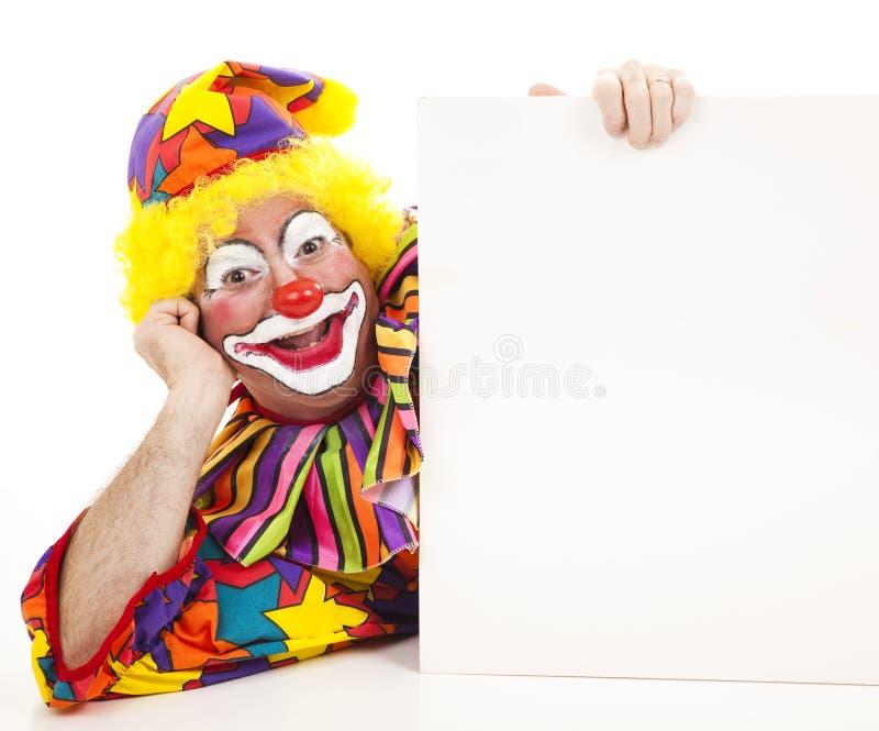 Stützender Clown lizenzfreies stockbild