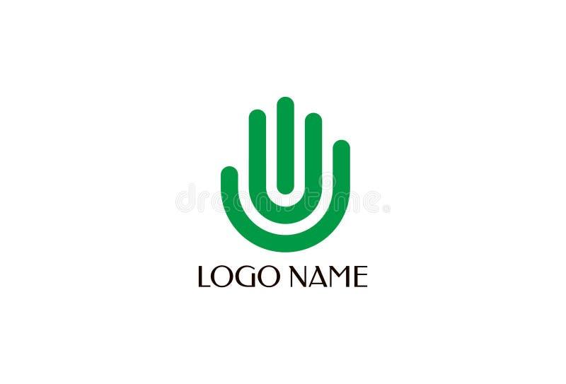 Stützhand Logo Design lizenzfreie abbildung