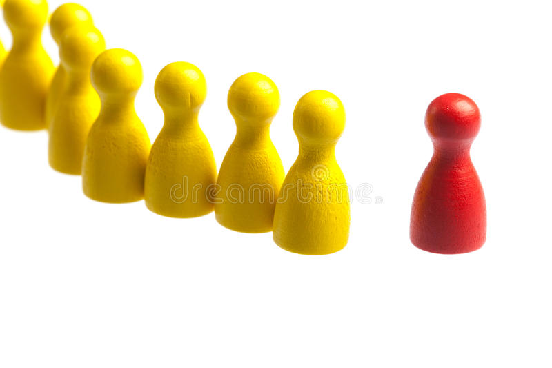Stützreihenlinie Konzept, Pfandzahlen stockfotografie