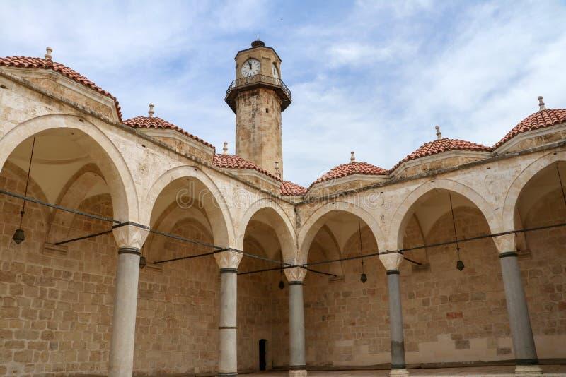 Stęp, Mersin, Turcja/, Czerwiec 12, 2019, stępa Ulu cami dziejowy meczet obrazy stock