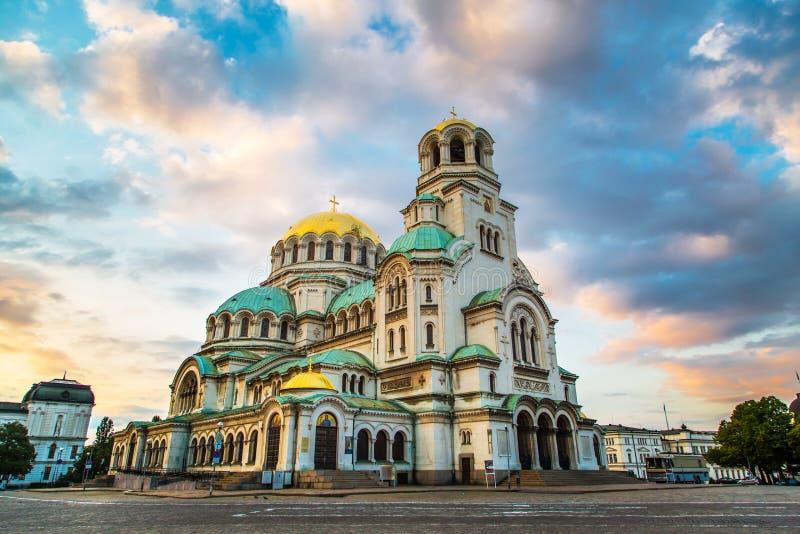 St亚历山大Nevski大教堂在索非亚,保加利亚 库存图片