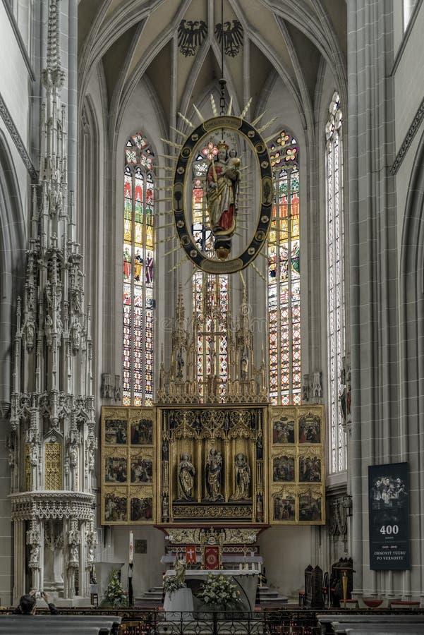 St伊丽莎白的大教堂在科希策,斯洛伐克 库存图片